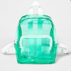 CLOSET CLEAR-OUT Clear Mini Backpack
